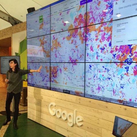 COP22 Google Hyperwall presentation in Paris